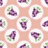 Illustrazione sveglia di vettore del pois dell'uva Reticolo di ripetizione senza giunte illustrazione vettoriale