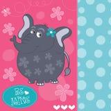 Illustrazione sveglia di vettore dell'elefante del bambino Fotografia Stock Libera da Diritti