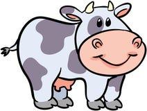 Illustrazione sveglia di vettore della mucca Fotografia Stock Libera da Diritti
