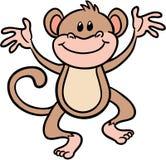 Illustrazione sveglia di vettore della scimmia Immagini Stock