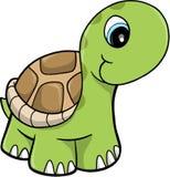 Illustrazione sveglia di vettore della tartaruga di safari illustrazione vettoriale