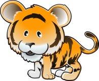 Illustrazione sveglia di vettore della tigre Fotografie Stock
