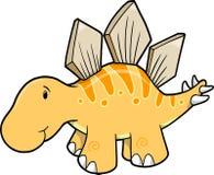 Illustrazione sveglia di vettore dello Stegosaurus illustrazione vettoriale