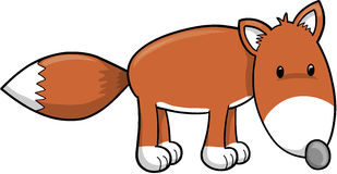 Illustrazione sveglia di vettore di Fox illustrazione di stock