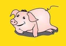 Illustrazione sveglia di vettore di sonno del maiale Fotografia Stock Libera da Diritti