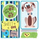 Illustrazione sveglia e marrone del cane Immagine Stock Libera da Diritti