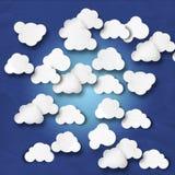 Illustrazione tagliata nuvola Fotografie Stock Libere da Diritti