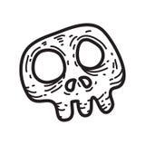 Illustrazione terrificante di vettore del cranio della roba di Halloween Fotografie Stock