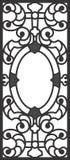 Illustrazione titanica della griglia di portello della stanza di Dinning Fotografie Stock Libere da Diritti