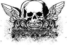 Illustrazione tribale del cranio Immagini Stock Libere da Diritti