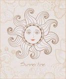 Illustrazione tribale del Sun con il fronte gentile. Royalty Illustrazione gratis