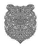 Illustrazione tribale di vettore dell'orso Fotografie Stock Libere da Diritti