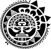 Illustrazione tribale di vettore della maschera del sole Immagini Stock