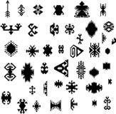 Illustrazione tribale navajo azteca geometrica tradizionale etnica indiana di vettore del modello di stile dell'insieme di elemen Fotografia Stock Libera da Diritti