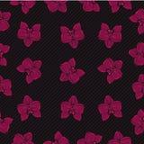 Illustrazione tropicale di vettore del modello dell'orchidea Fotografia Stock Libera da Diritti
