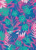 Illustrazione tropicale di vettore della copertura della felce della foresta immagini stock libere da diritti
