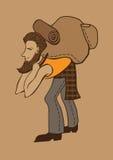 Illustrazione turistica barbuta Immagine Stock