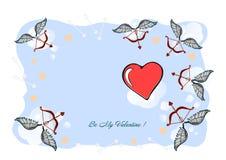 Illustrazione un il giorno di biglietti di S. Valentino felice, carta del biglietto di S. Valentino Un'illustrazione di giorno di royalty illustrazione gratis