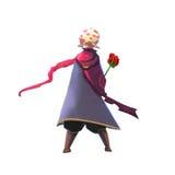Illustrazione: Un piccolo principe con la sua Rosa Fotografia Stock Libera da Diritti