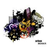 Illustrazione urbana di disegno Fotografia Stock Libera da Diritti