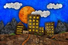 Illustrazione urbana di paesaggio Fotografia Stock