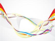Illustrazione variopinta astratta di vettore di onda del Rainbow Fotografia Stock Libera da Diritti