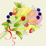 Illustrazione variopinta con i fiori della foresta Fotografie Stock