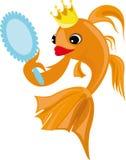 Illustrazione variopinta con un pesce rosso Fotografia Stock Libera da Diritti