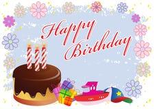 Illustrazione variopinta di buon compleanno Immagini Stock