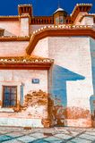 Illustrazione variopinta di una chiesa a Granada, Spagna immagini stock