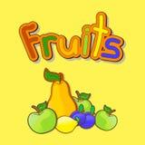 Illustrazione variopinta di vettore dei frutti Royalty Illustrazione gratis