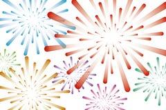 Illustrazione variopinta di vettore del fondo dei fuochi d'artificio royalty illustrazione gratis