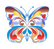 Illustrazione variopinta di vettore della farfalla Icona di colore Fotografie Stock