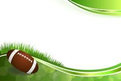 Illustrazione verde astratta della palla di football americano del fondo Immagini Stock
