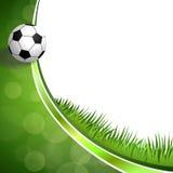 Illustrazione verde astratta della palla di sport di calcio di calcio del fondo Fotografie Stock