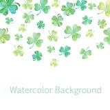 Illustrazione verde dell'acquerello del trifoglio illustrazione di stock