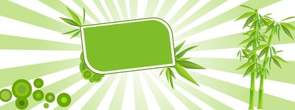 Illustrazione verde felice Fotografie Stock