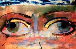 Illustrazione verniciata 3 degli occhi Royalty Illustrazione gratis