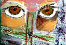 Illustrazione verniciata degli occhi Illustrazione di Stock