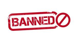Illustrazione vietata del timbro di gomma di lerciume royalty illustrazione gratis