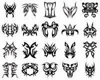 Illustrazione - vinile tribale di progettazione del tatuaggio pronto Fotografia Stock Libera da Diritti