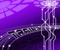 Illustrazione virtuale della classe 3d di web di addestramento cyber illustrazione vettoriale
