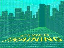 Illustrazione virtuale della classe 3d di web di addestramento cyber royalty illustrazione gratis