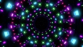 Illustrazione visiva d'ardore piacevole girante del fondo 3d del ciclo del vj delle luci illustrazione di stock