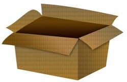Illustrazione vuota della scatola di cartone Immagini Stock