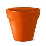 Illustrazione vuota di vettore del vaso da fiori immagini stock
