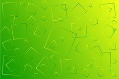Illustrazione yello verde luminosa di vettore, che consiste dei quadrati delle dimensioni differenti illustrazione di stock