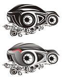 Illustrazioni astratte dell'automobile sportiva Immagini Stock Libere da Diritti