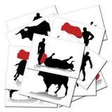 Illustrazioni con un bullfighter in Spagna illustrazione vettoriale