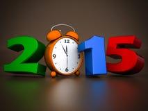 Illustrazioni 3d del buon anno 2015 Immagini Stock